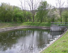 Loi sur l'eau, Exemple de bassin de rétention d'eaux pluviales